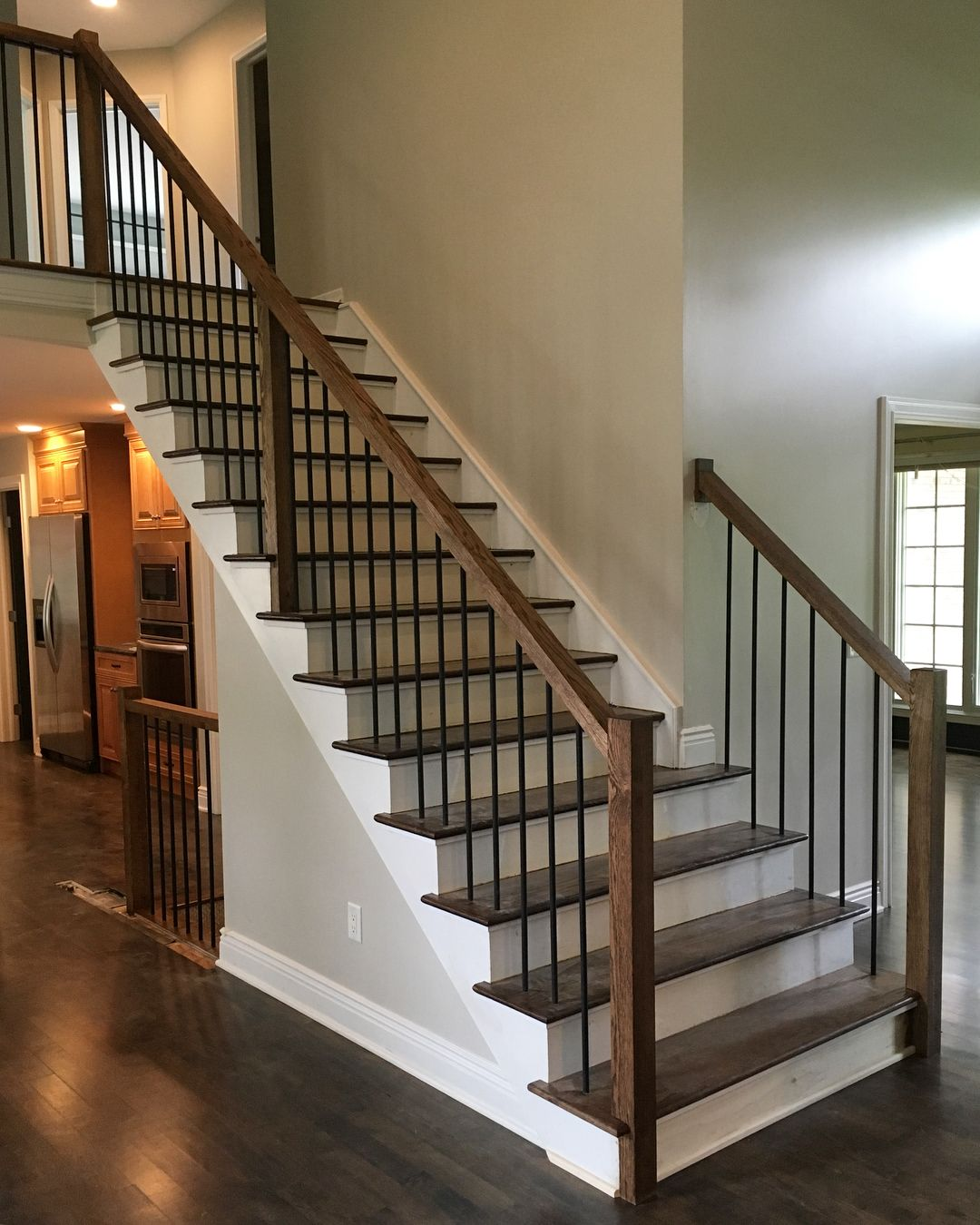 "Raelyn Woltz on Instagram: ""Just left a site meeting in Orchard Park where we are working through updating 90s builder choices through out. There's a lot more to be…"" #staircaseideas"