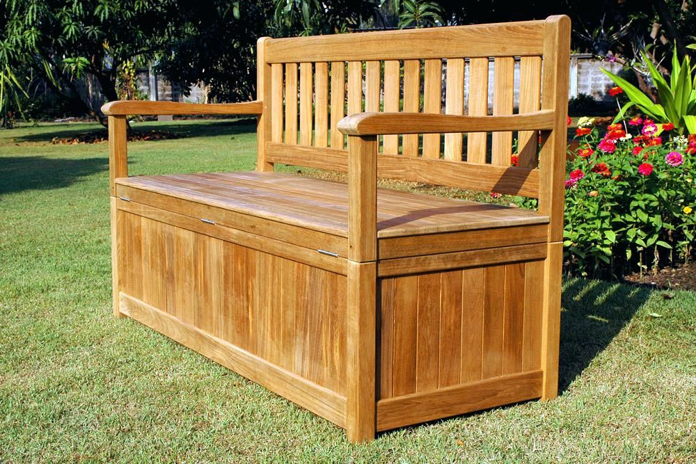 Most Favorite Outdoor Storage Bench Living Home Designs Outside