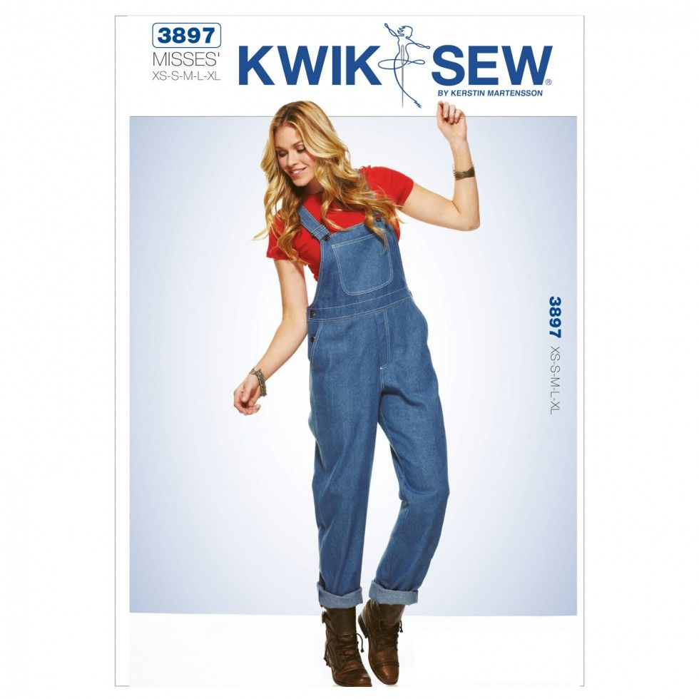 Kwik Sew Ladies Sewing Pattern 3897 Dungarees Overalls | Sewing ...