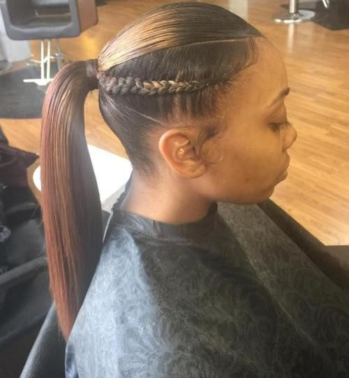 Braided Ponytail Ideas 40 Cute Ponytails With Braids Sleek Ponytail Braided Ponytail Long Ponytail Hairstyles