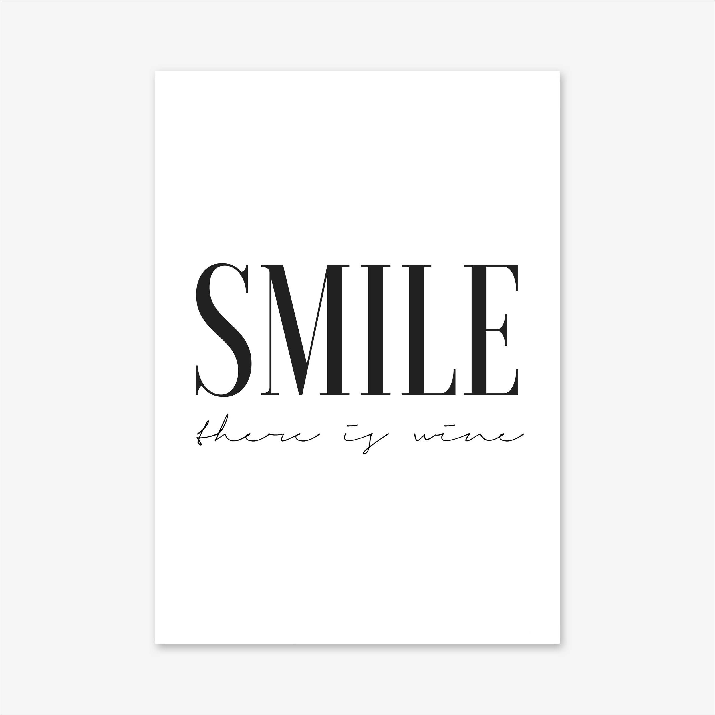 Motivational print typography wall art inspirational quote
