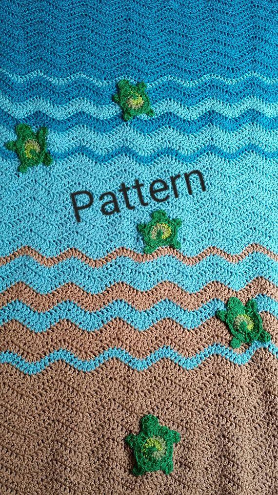 Sea Turtle Blanket Crochet Pattern Sea Turtle Gifts Beach Lovers
