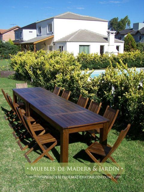 Mesa de peteribi mesas mesas mesa para quincho y - Mesa de jardin de madera ...