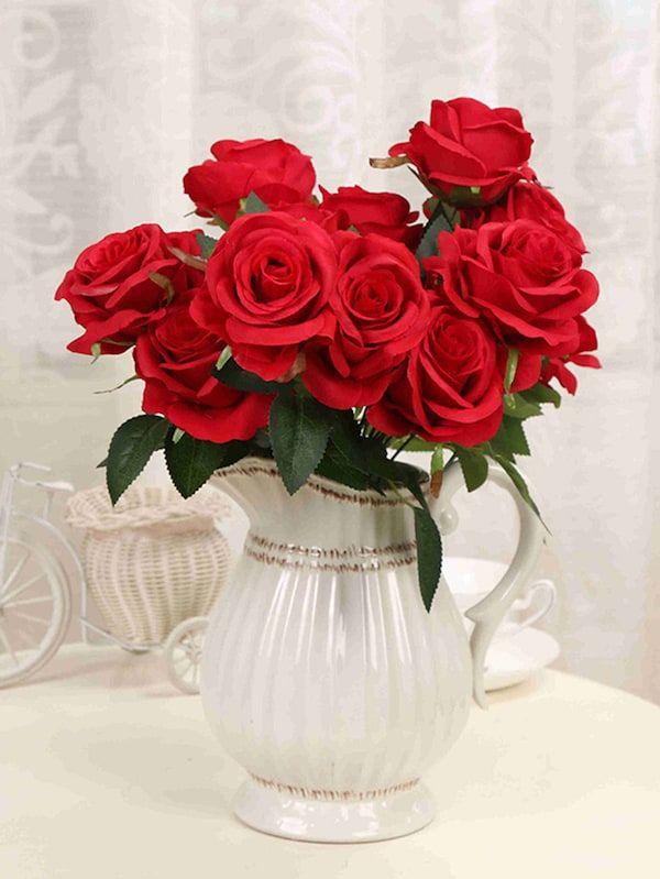 5b255edbc3 Artificial Flower Bunch With 9pcs Rose -SheIn(Sheinside) | Girl ...