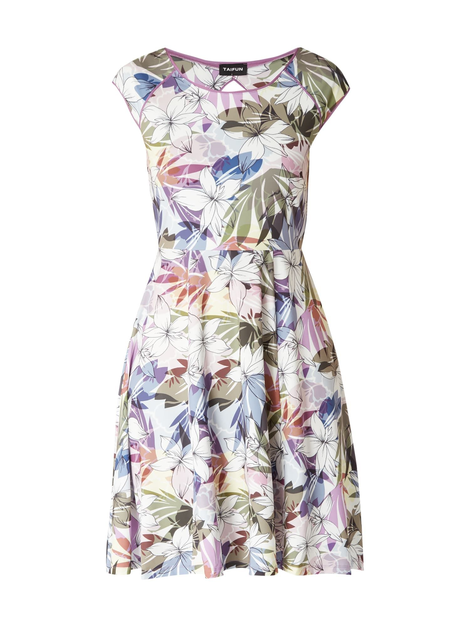 Taifun - Kleid mit floralem Muster - Olivgrün in 2020 ...