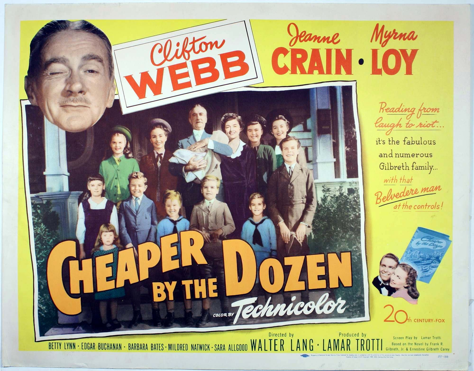 Image result for CHEAPER BY THE DOZEN 1950 movie