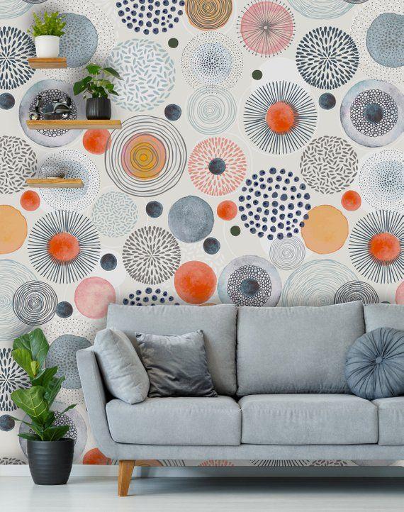 Removable Peel N Stick Wallpaper Self Adhesive Wall Etsy Peel N Stick Wallpaper Room Decor Wallpaper Living Room