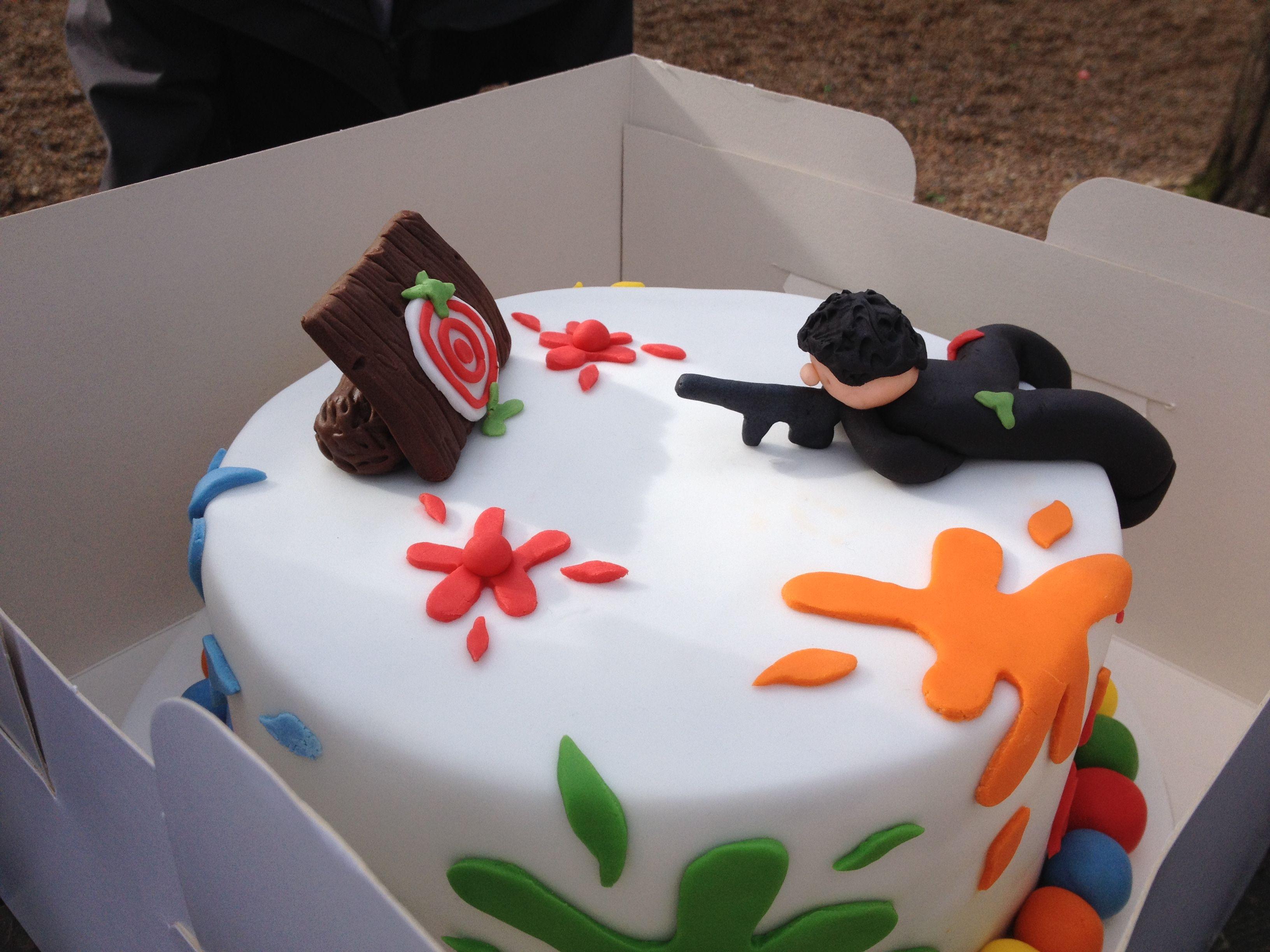 Sensational Cool Paintball Birthday Cake Paintball Birthdaycake Birthday Cards Printable Giouspongecafe Filternl