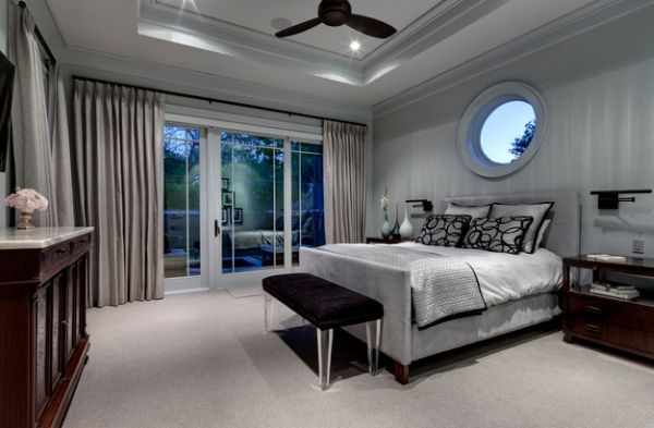 Good Affluent Bedroom In Silver And Grey With Hints Of Black And Brown