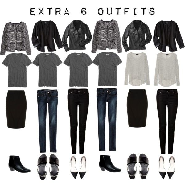 Extra 6 Outfits From The 5 Item French Wardrobe Wardrobes Polyvore And Capsule Wardrobe