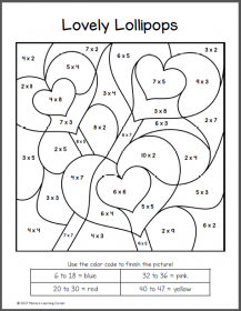Valentine S Day Color By Number Multiplication Worksheets Valentine Worksheets Multiplication Worksheets Valentine Coloring