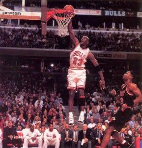 Michael Jordan wearing Air Jordan 11