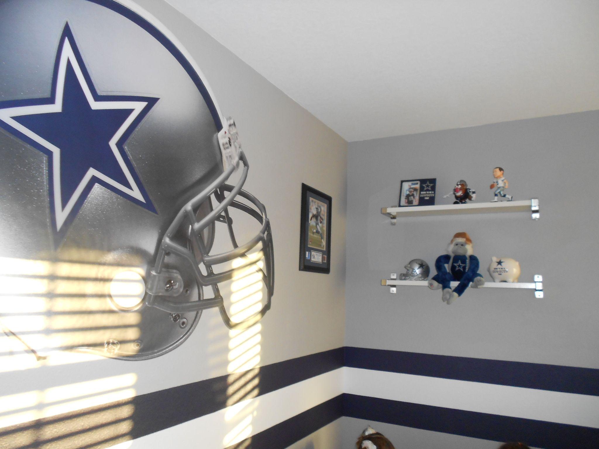 Dallas Cowboys Bedroom Featuring Fathead Wall Graphic Dallas Cowboys Room Decor Dallas Cowboys Bedroom Dallas Cowboys Theme Room