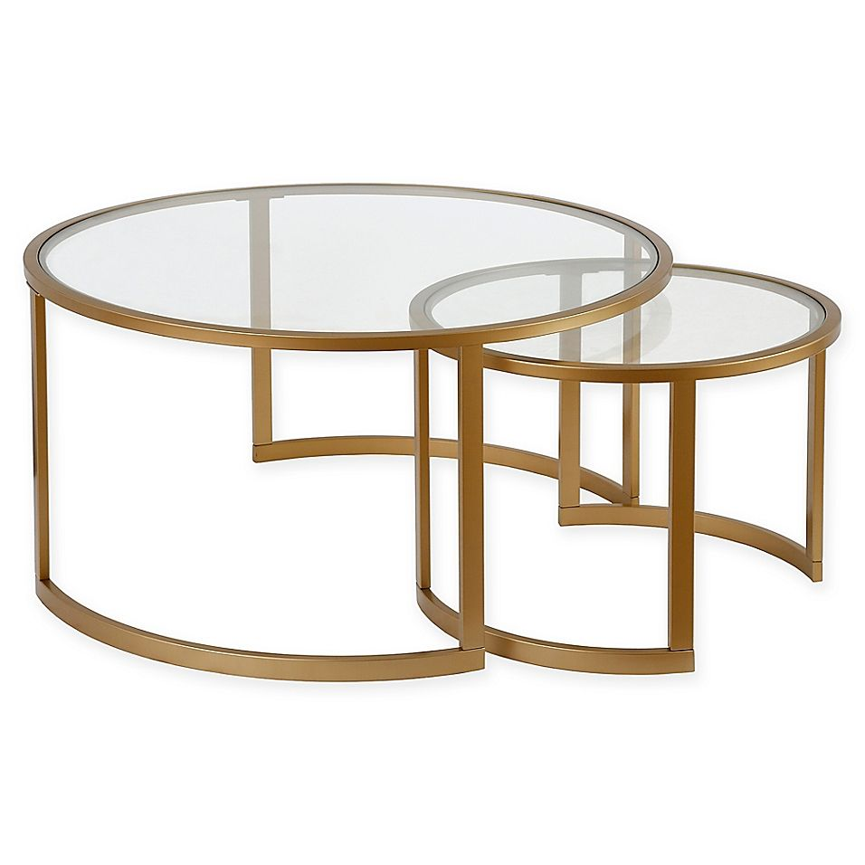 Hudson Canal Mitera 2 Piece Coffee Table Set Bed Bath Beyond Coffee Table Coffee Table Setting Coffee Table Steel Frame [ 956 x 956 Pixel ]