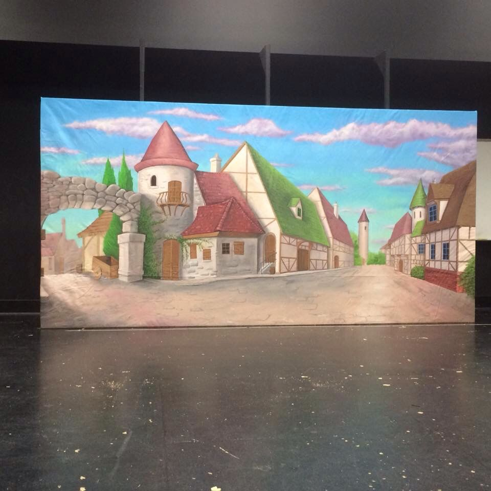 Village Backdrop Beauty Amp The Beast Theater Sets Props