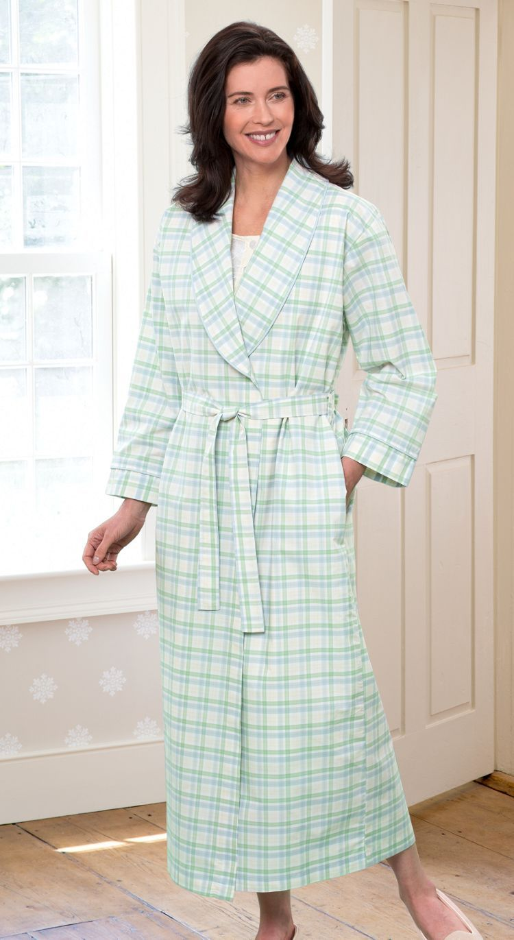 85f57e964 Women's Percale Wrap Robe: Loved for its soft hand and cool crisp feel,  it's no wonder our sleepwear buyers thought our Portuguese cotton percale  would make ...