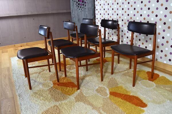 6 Chaises Danoise De Chrobat S Editeur Sax Chairs 1960 Chaise Danoise Fauteuil Design Scandinave Chaise