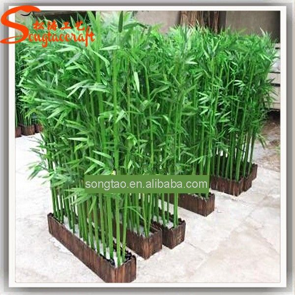 Outdoor Wall Decoration Plastic Artificial Lucky Bamboo Tree Plant Branches For Centerpieces And Indoor
