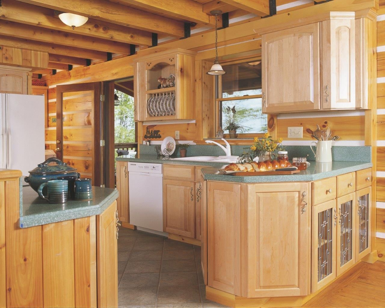 Appalachian Log Homes Log Home Kitchens Log Cabin Home Kits Beautiful Kitchens