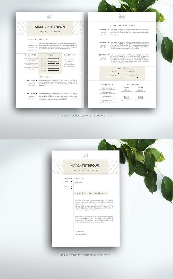 Resume template for MS Word Pinterest Template, Cv template and