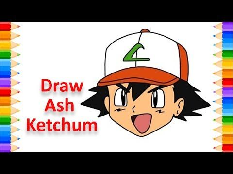 How To Draw Ash Ketchum (Pokemon) - YouTube in 2020 | Ash ...