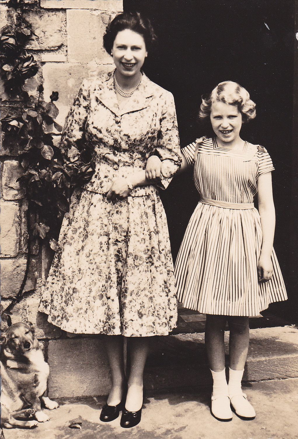 Queen Elizabeth II & Princess Anne. Love this picture for