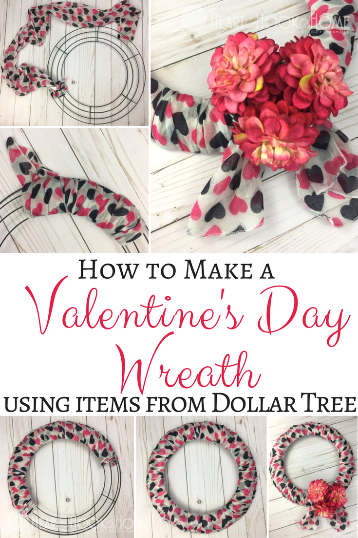 Inexpensive Easy Valentine S Day Wreath Using Items From Dollar