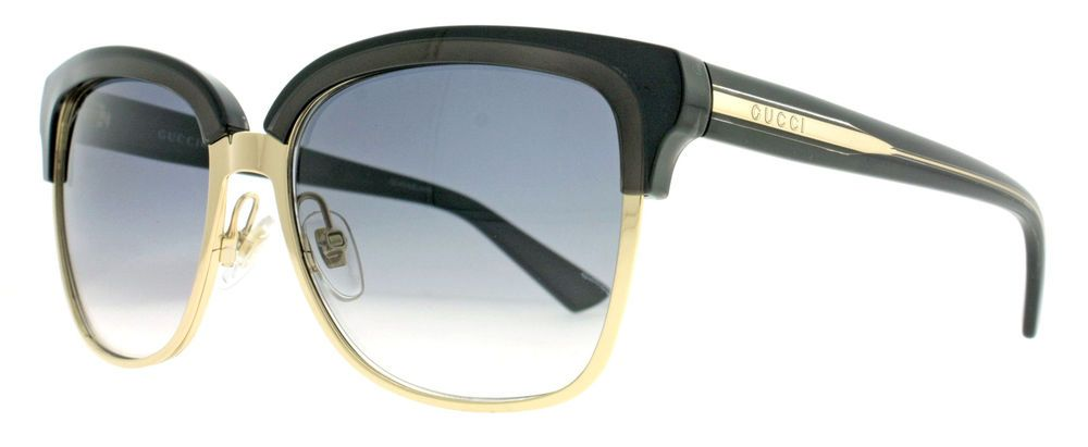 Gucci GG 4246/S 15GLF Black/Gold  w/ Gray Gradient Lens Women's Sunglasses #GUCCI #Butterfly
