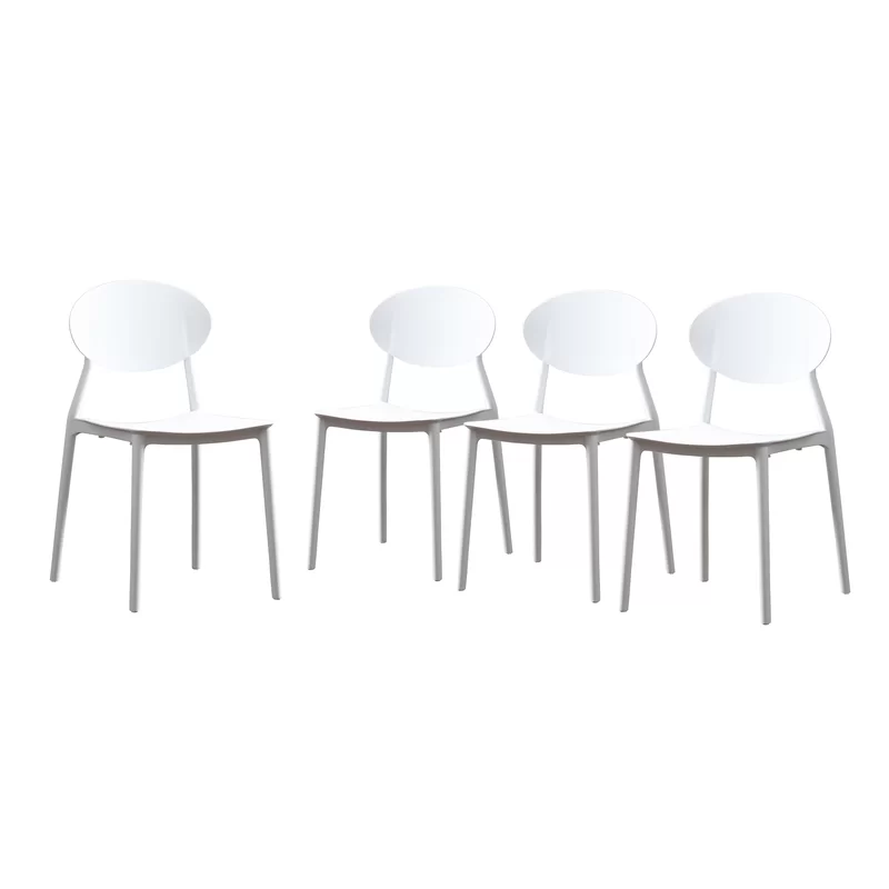 Belford Stacking Patio Dining Chair Patio Dining Chairs Outdoor Plastic Chairs Patio Dining