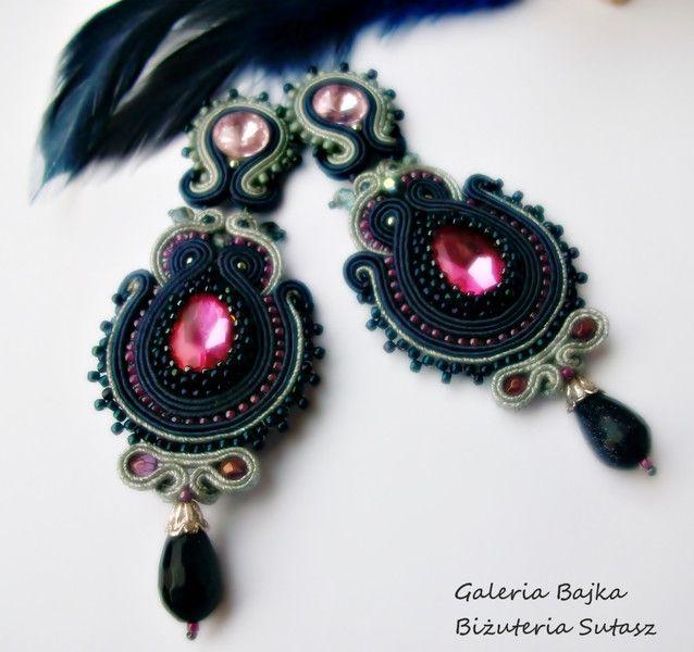 """Kolczyki sutasz (soutache) """"Mirage"""" w Galeria Bajka Soutache Jewelry na DaWanda.com"""