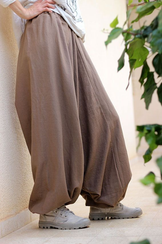 Unisex Yoga Harem Pants, Afghani pants, Linen harem pants, Men/Women Drop Crotch pants, Mens yoga pants, yoga clothe