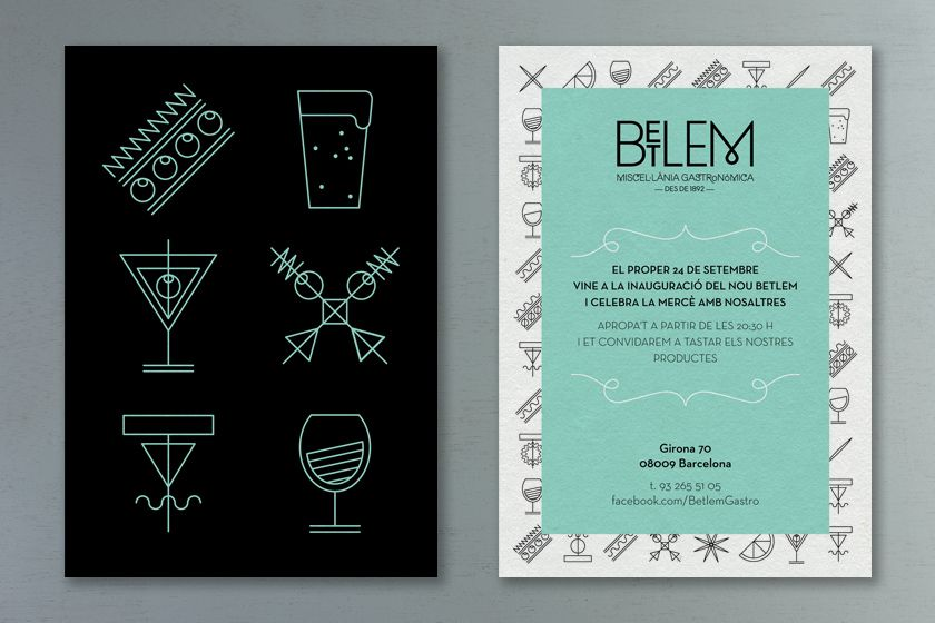 If you go to Barcelona, you could take a peek to this wonderful gastro-bar called Betlem. This old deli grocery store was endowed by a superb typography, with a M similar to the Monocle logo. The studio Toormix also made a good choice with the ultimate vintage color : the turquoise.