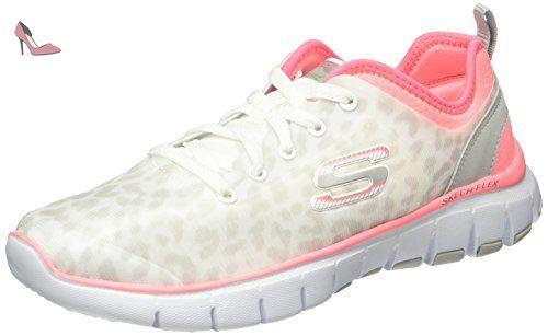 Skechers Shape-Ups Prospeed, Chaussures tonifiantes femme - Noir/rose, 36 EU