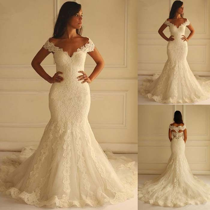 Elegant Long Sleeves Lace Tulle Formal Cheap Long Wedding