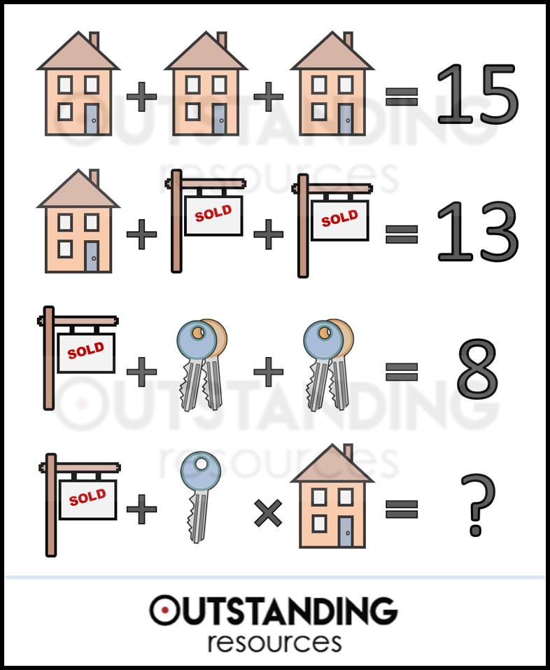 Simultaneous Equations Bidmas Pemdas Mathschallenges Fun Mathsisfun Outstandingresources Tpt Tes Maths Puzzles Math Pictures Brain Math