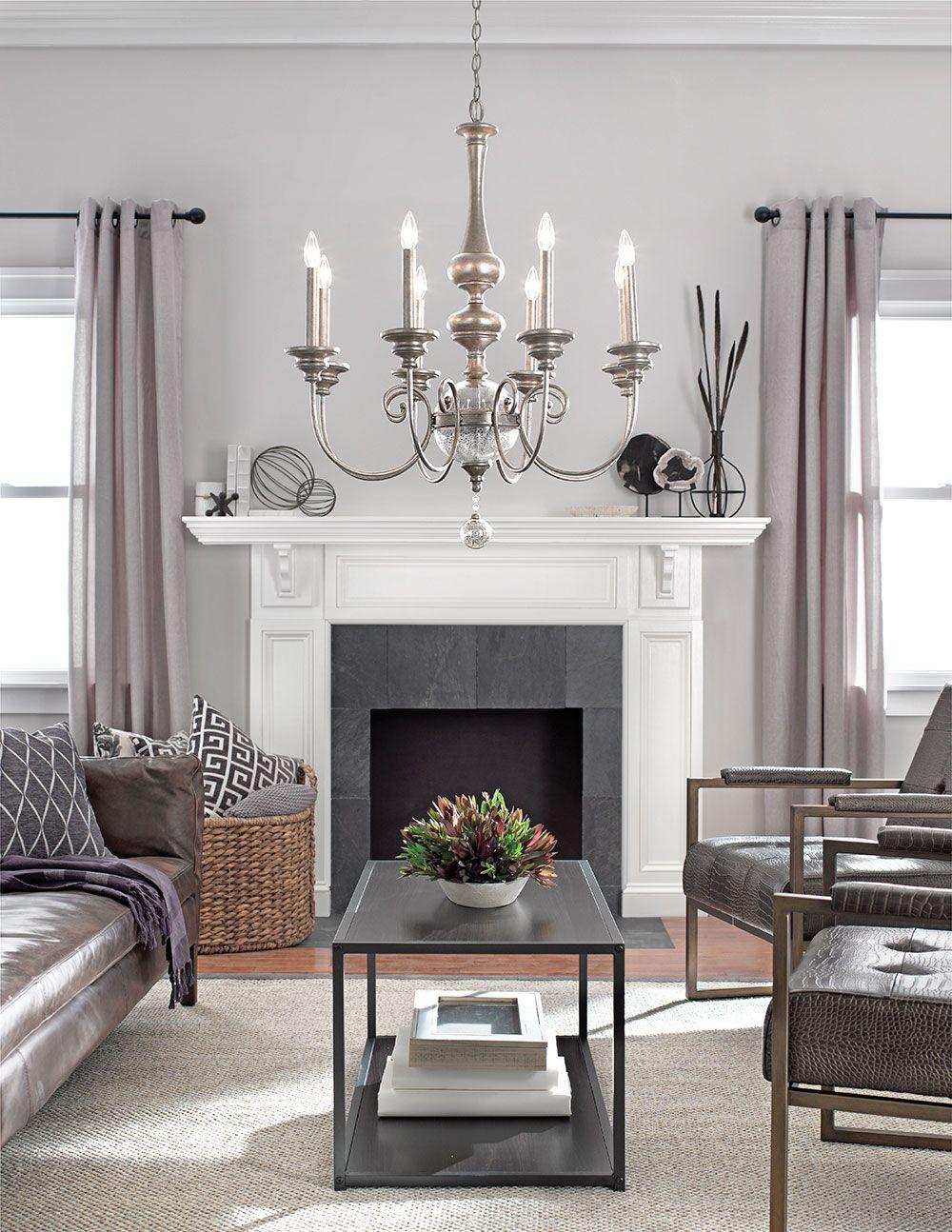 Living room lighting. Rosalie Collection. Rosalie 8 Light Chandelier ...