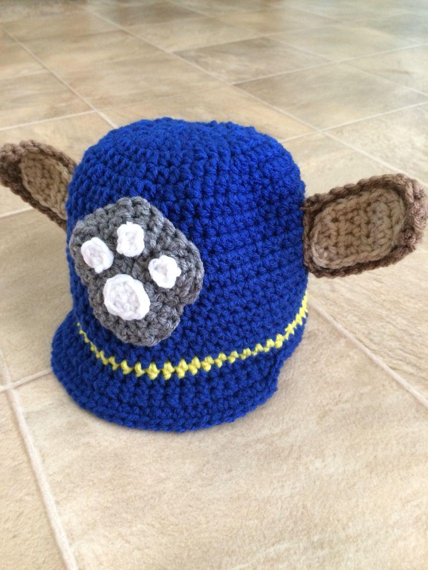 Paw patrol Chase crocheted hat. | Paw Patrol | Pinterest