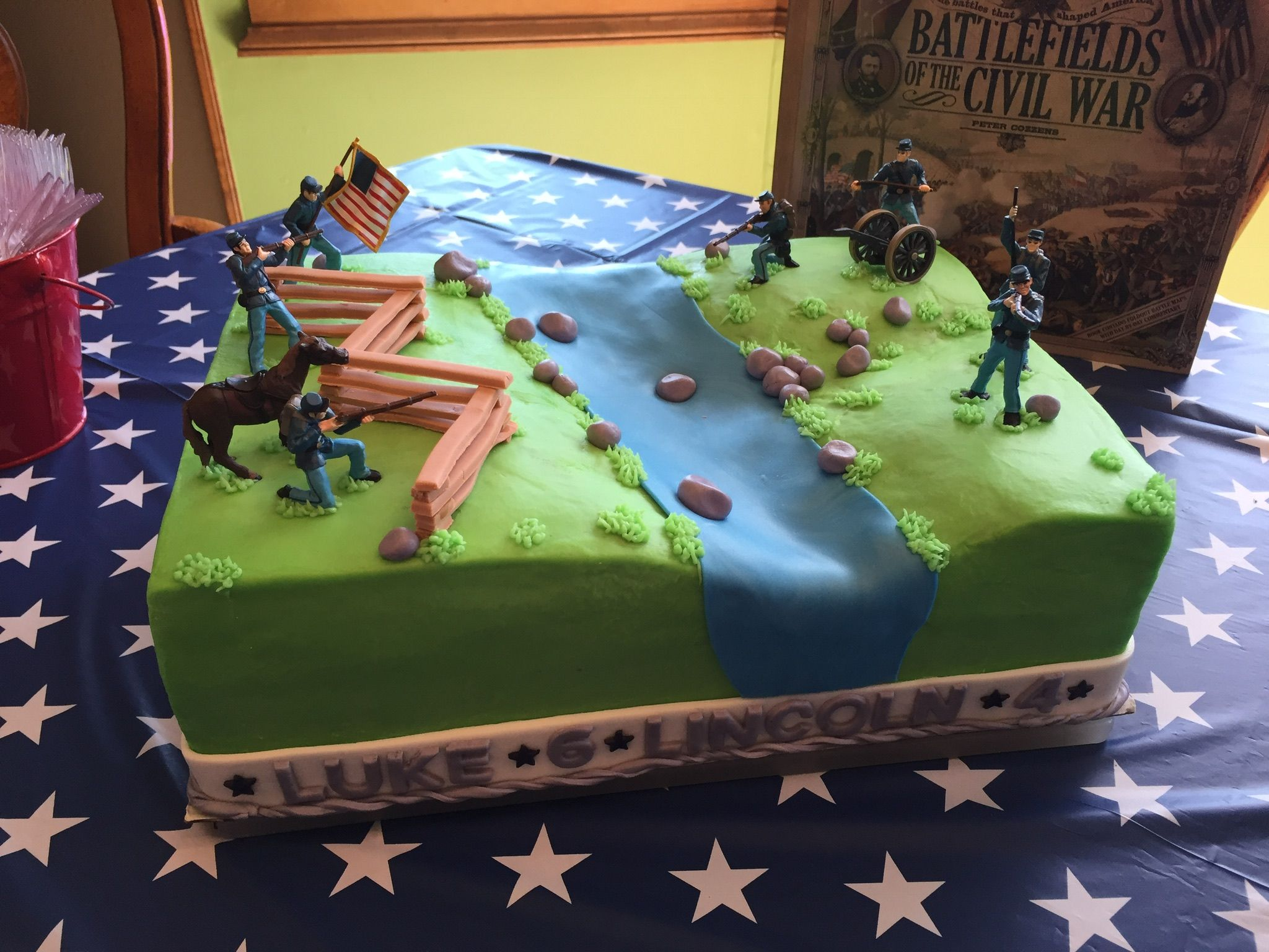 Civil War Birthday Cake Civil War Cake Cake War Cake 60th