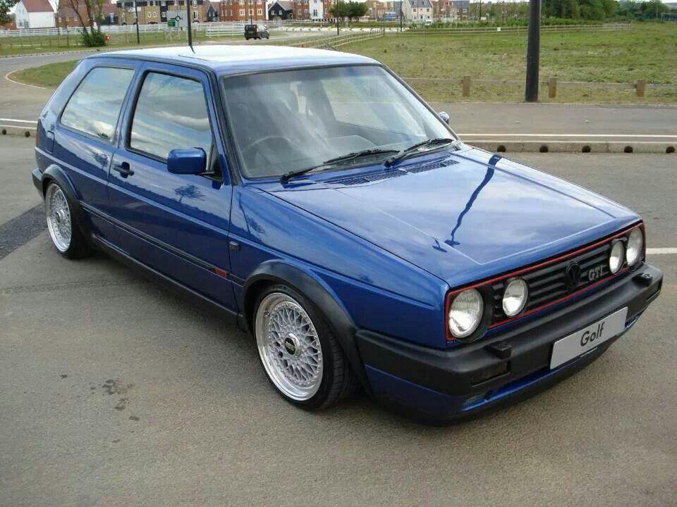 Volkswagen Golf Mk2 Gti Azul Bbs Rs Autos Vw Vw Mk1 Autos