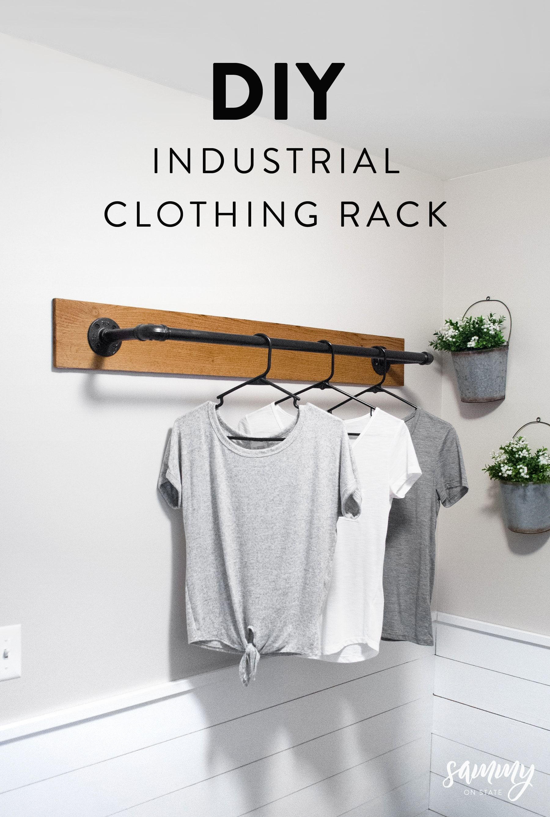 Diy Wall Mounted Clothing Rack Laundry Room Diy Laundry Room Remodel Wall Mounted Clothing Rack