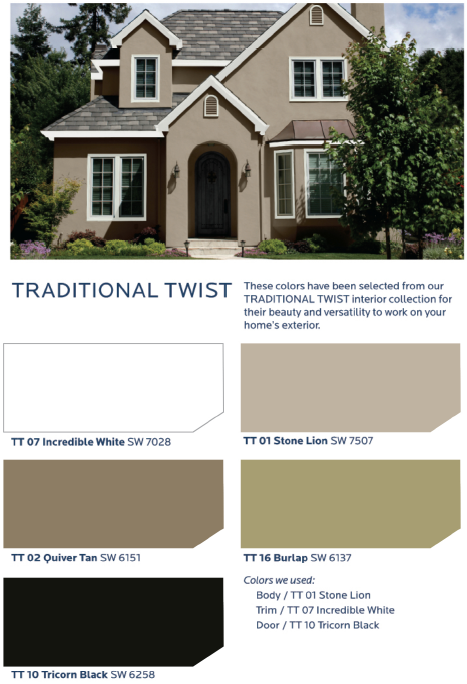 The traditional twist collection hgtv home by sherwin for Sherwin williams paint combinations