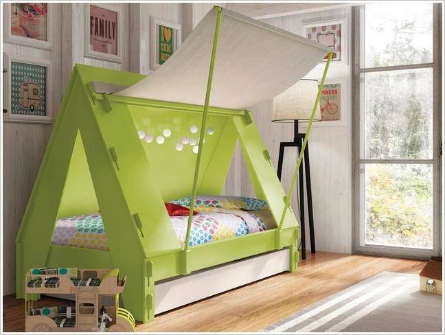 sch ne einrichtungsidee ein kinderzimmer f r kleine camping fans wohnen und. Black Bedroom Furniture Sets. Home Design Ideas