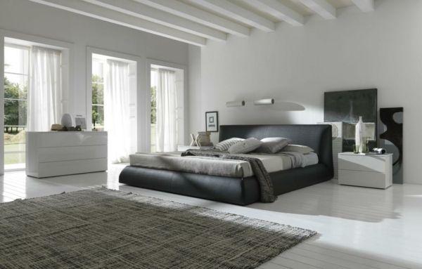 schlafzimmer einrichten graues bett – usblife, Modernes haus