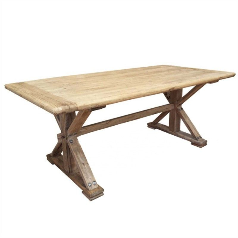 Winton Reclaimed Elm Timber 240cm Dining Table - Natural in 2018