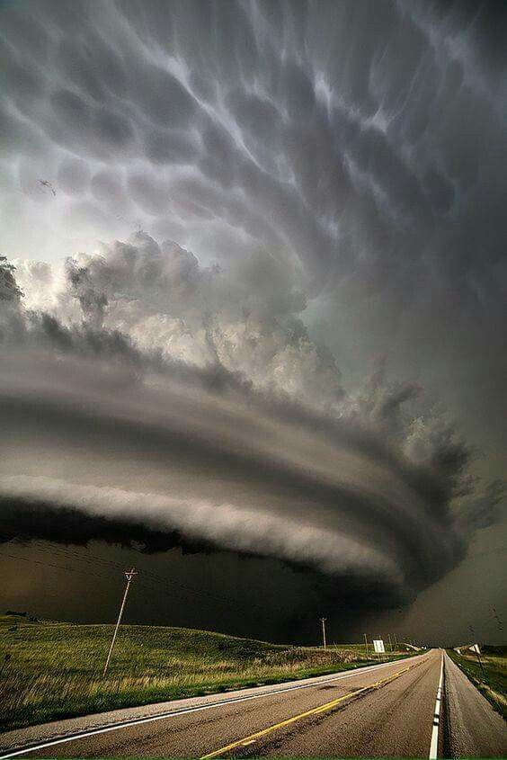 Now THAT is a storm cloud! Taken in southern Oklahoma on April 29, 2016.