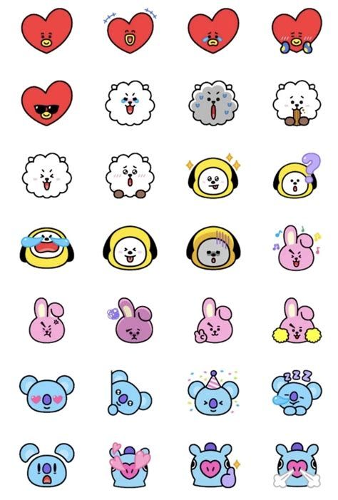Images By Lin Cris On BT21 | Cute Stickers, Pop Stickers, Bts