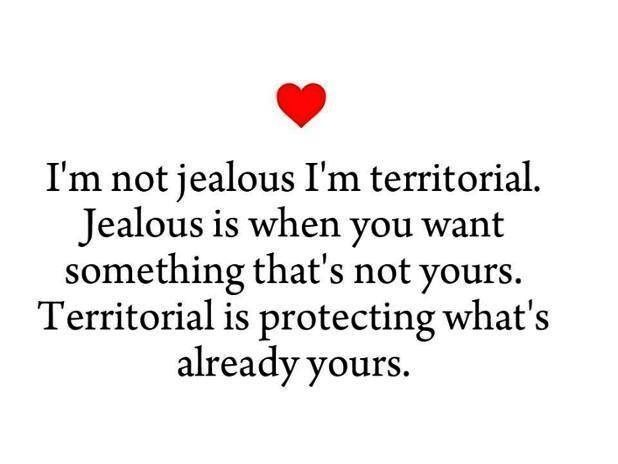 I M Not Jealous I M Territorial Jealous Is When You Want Something That S Not Yours Territorial Is Protecting What S Jealousy Quotes Quotes Im Jealous