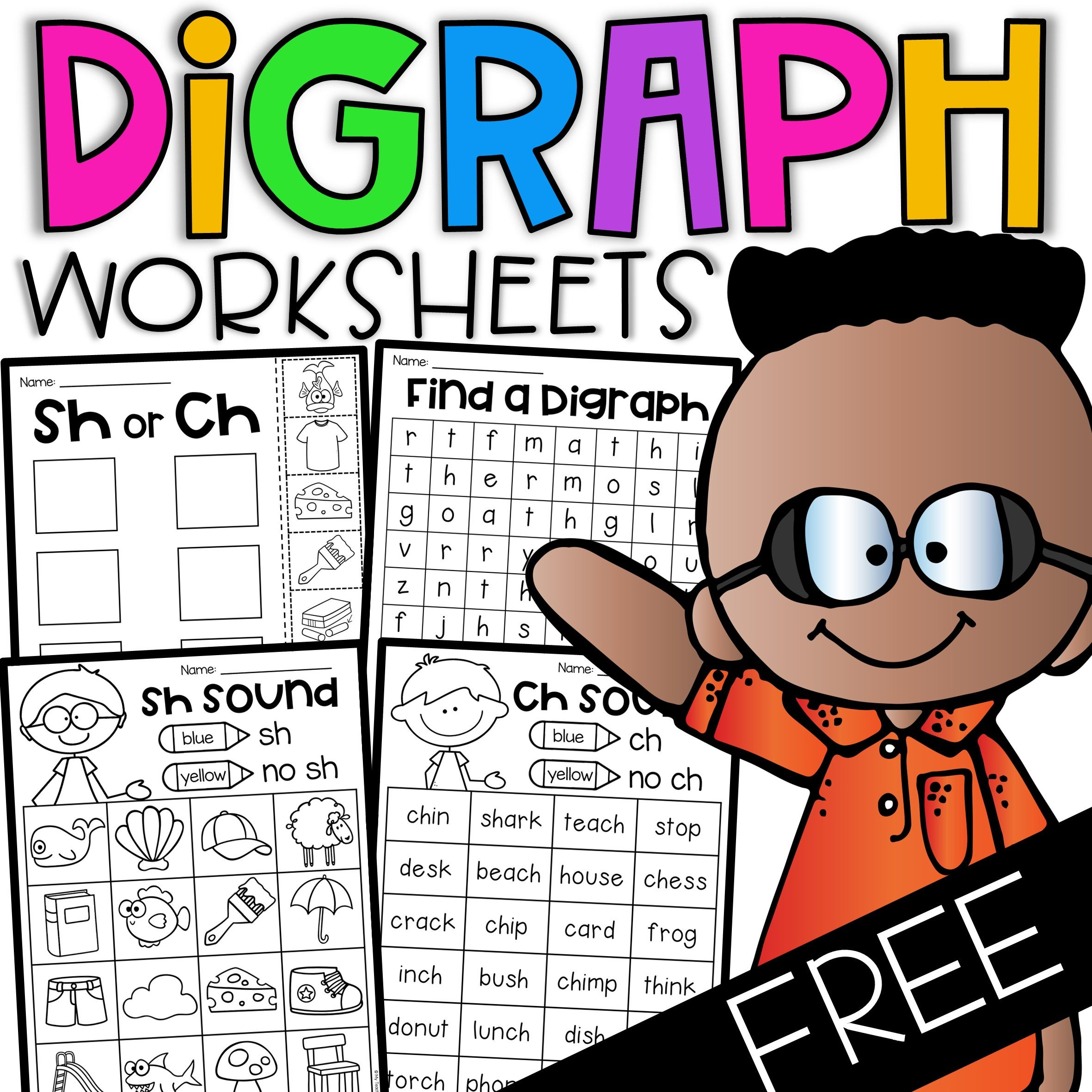 Free Digraph Worksheets