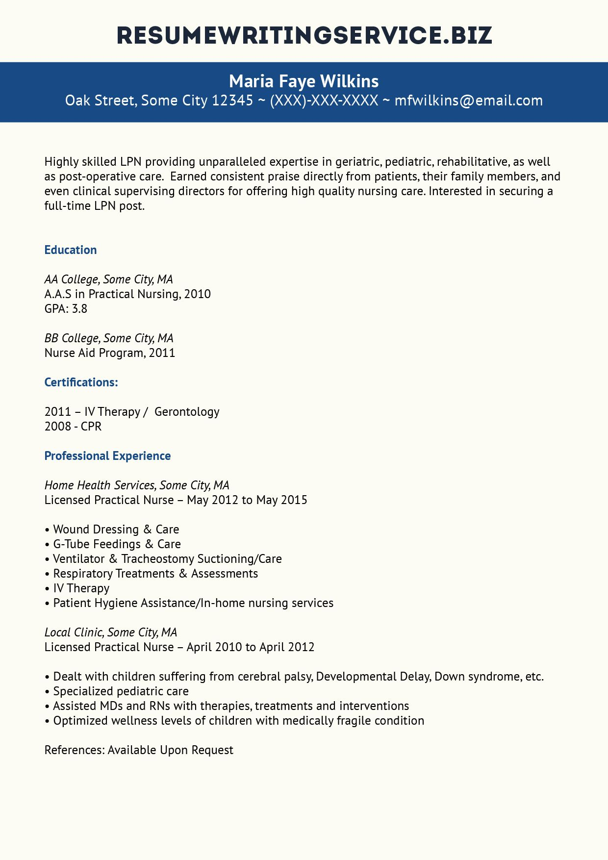 Lpn Resume Sample  StudentCareer    Students