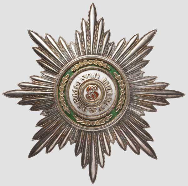 Orden vom Heiligen Stanislaus - Bruststern zur 1. oder 2. Klasse von Keibel Aus acht Segmenten gef